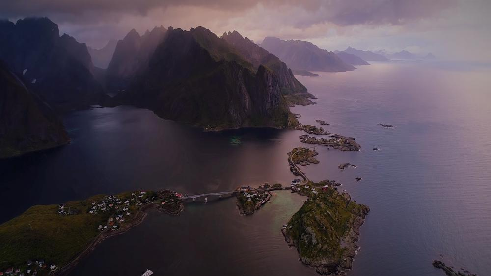 Lofoten from above wallpaper
