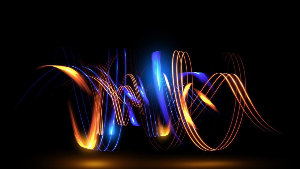 Luminous swirl wallpaper