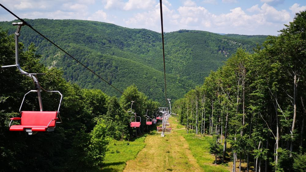 Chairlifts wallpaper