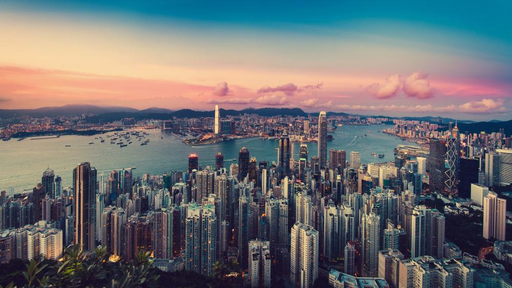 Hong Kong from the Victoria Peak wallpaper