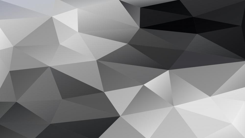 Monochrome polygonal low poly art wallpaper