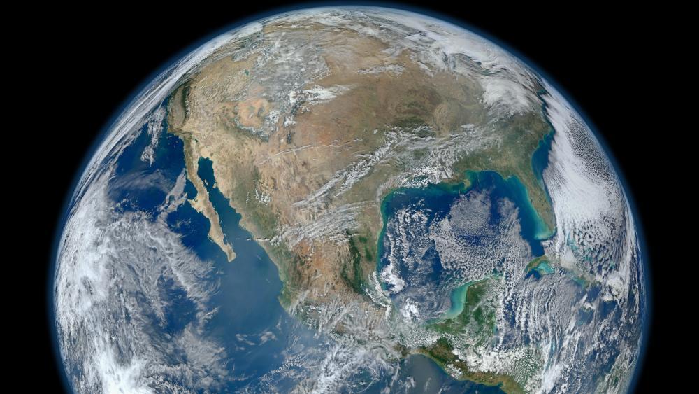 Blue Marble 2012 - North America wallpaper