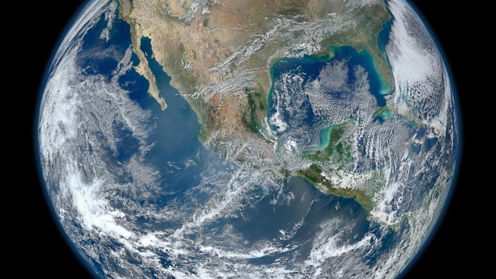 Blue Marble 2012 - Mexico wallpaper