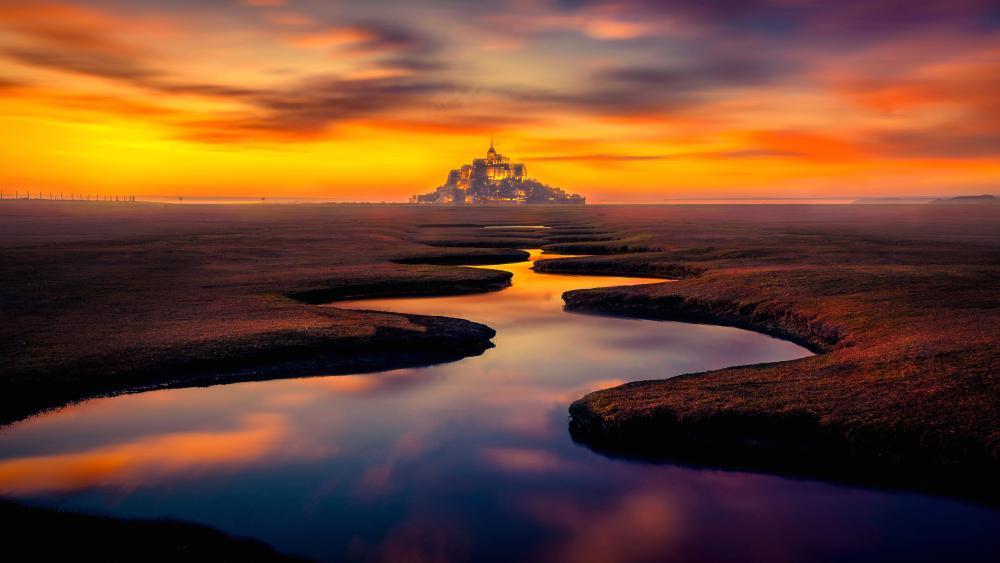 Mont Saint Michel, Normandy, France wallpaper