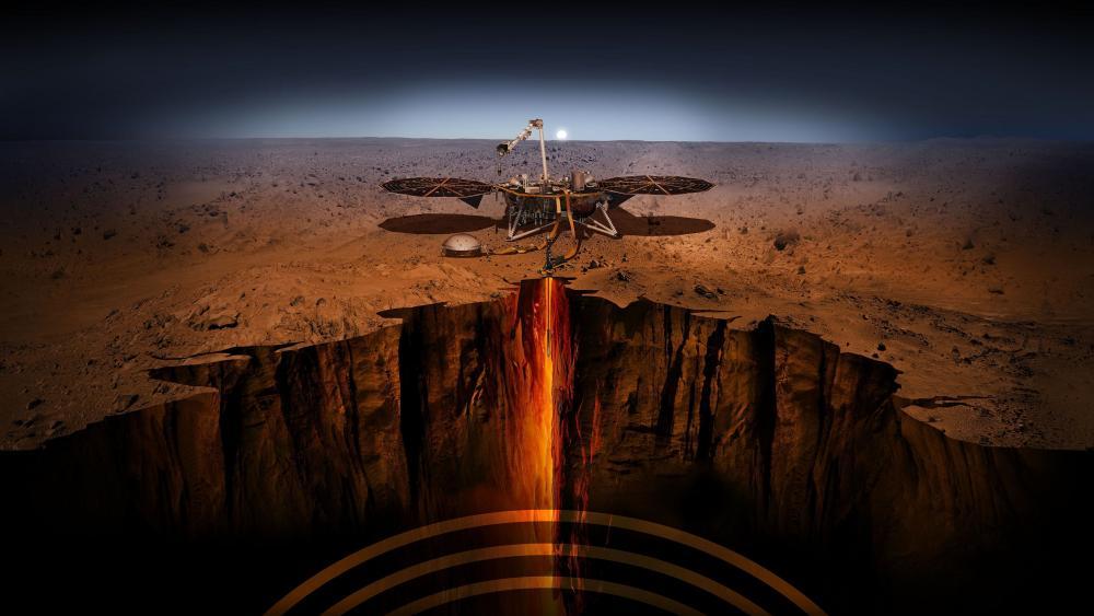InSight Mars landing wallpaper