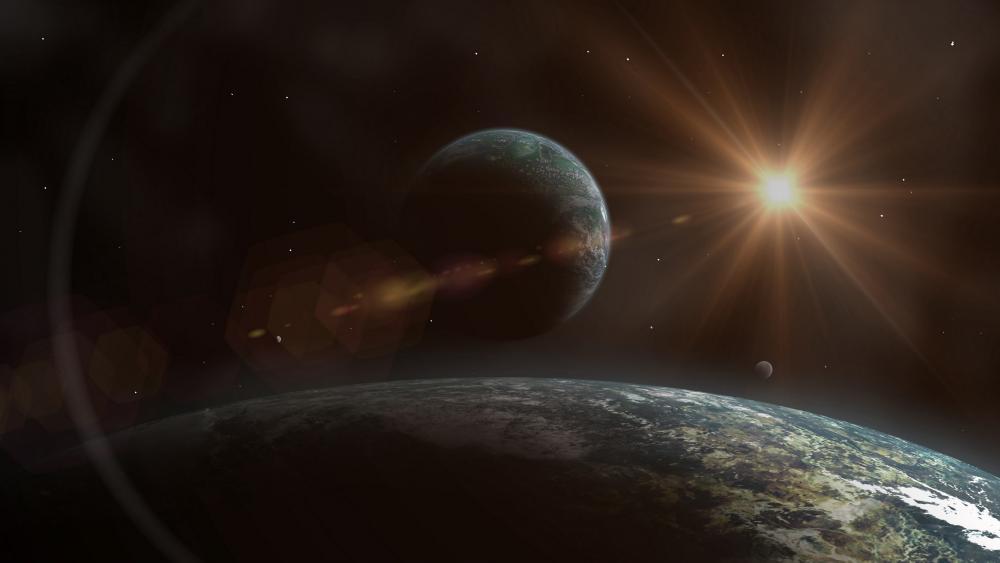 Earthy planet wallpaper