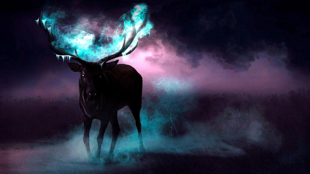 Fantasy Deer wallpaper