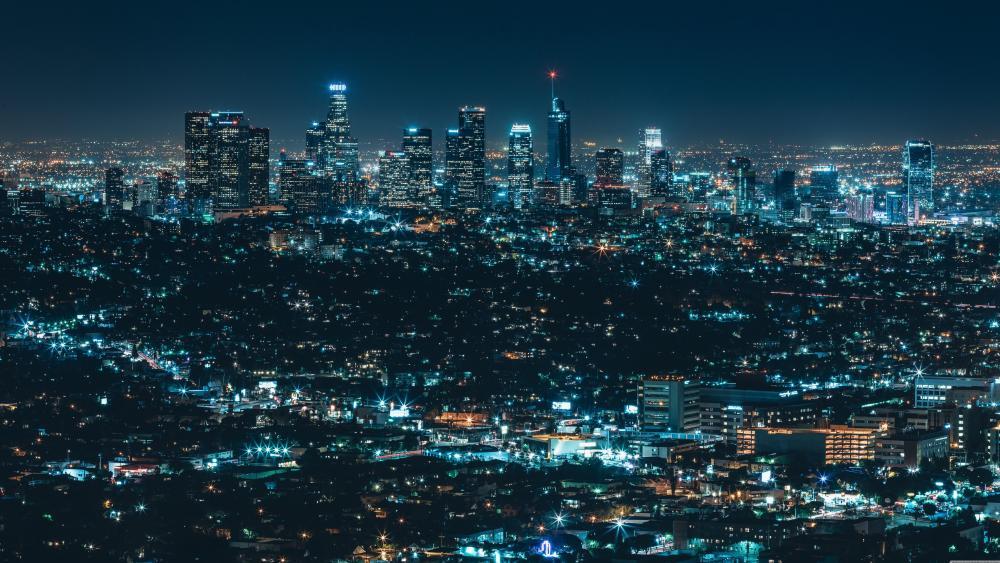 Luminous city (Los Angeles) wallpaper