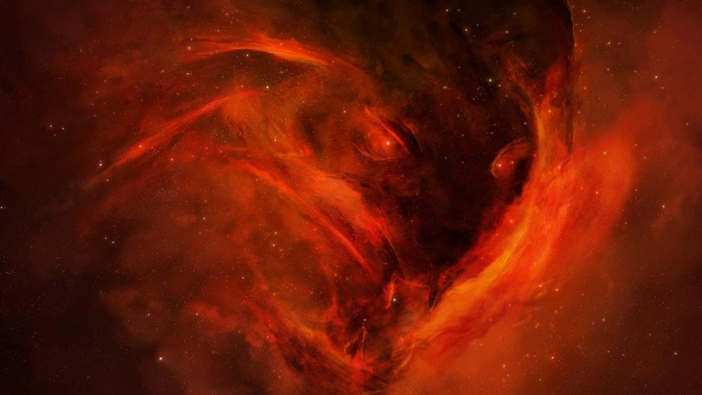 Red space monster wallpaper