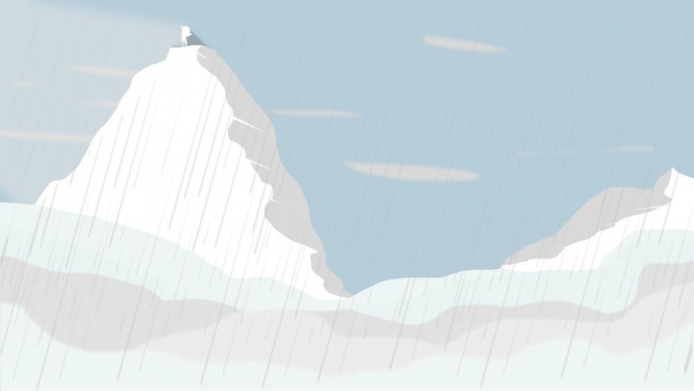snow climb wallpaper