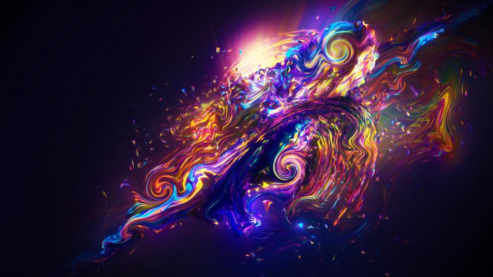 Colorful abstract digital art wallpaper