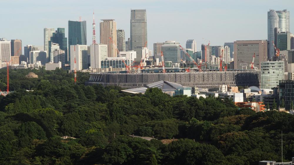 Construction of Tokyo's New National Stadium wallpaper