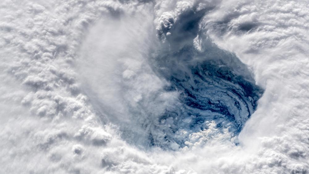 The Eyewall of Hurricane Florence wallpaper