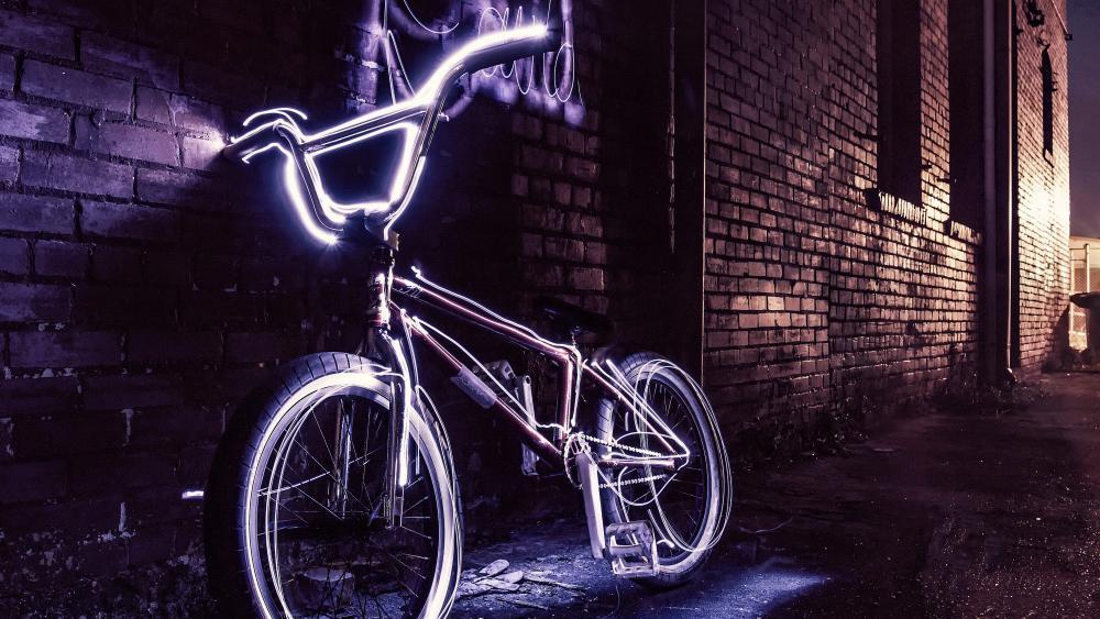 Neon BMX Bicycle wallpaper