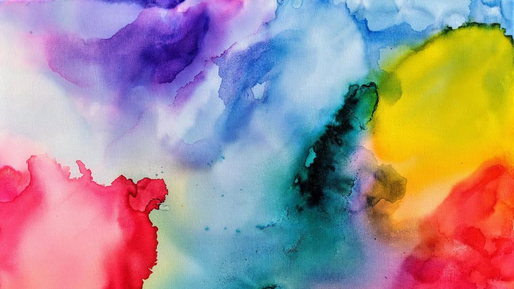 Watercolor abstract art wallpaper