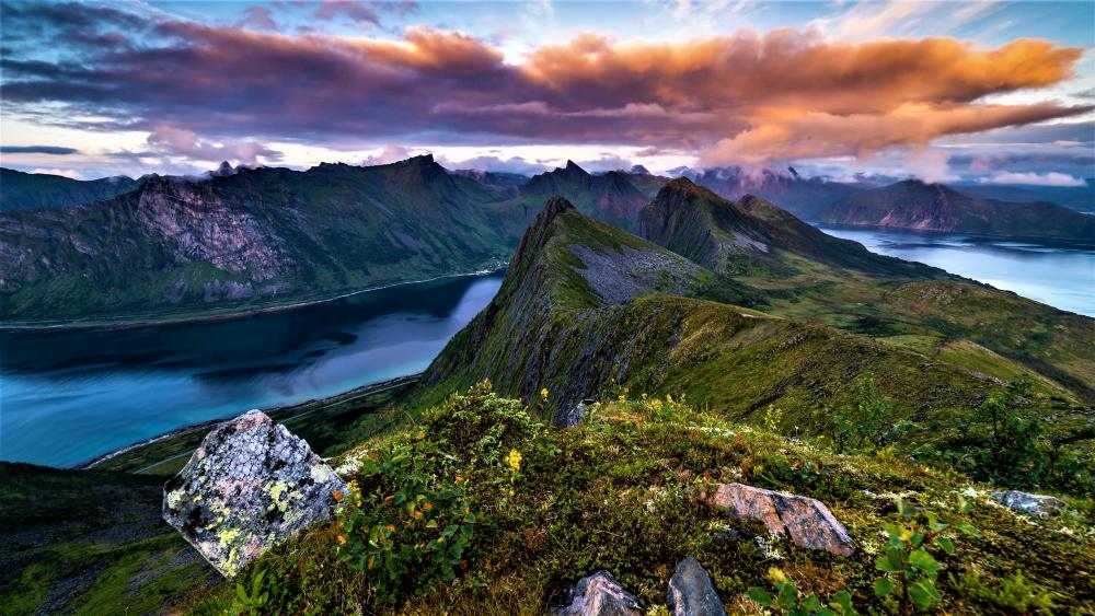 Norwegian landscape wallpaper