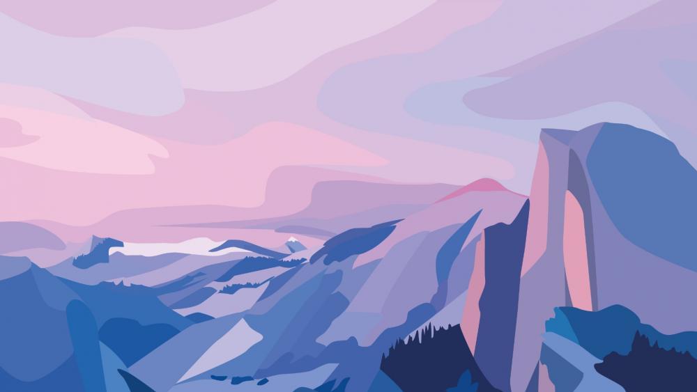 Minimalist mountain wallpaper