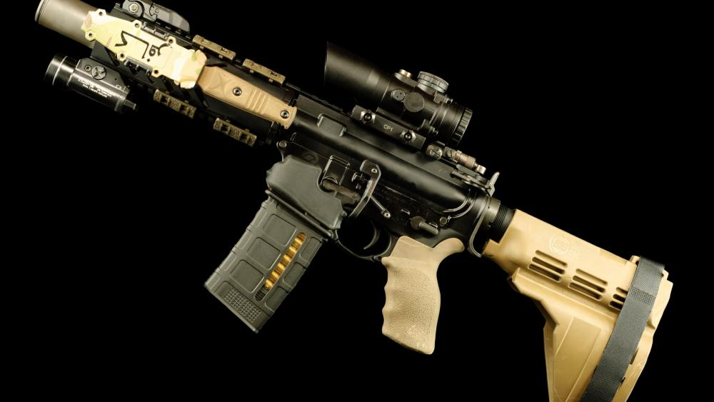 AR-15 style rifle wallpaper