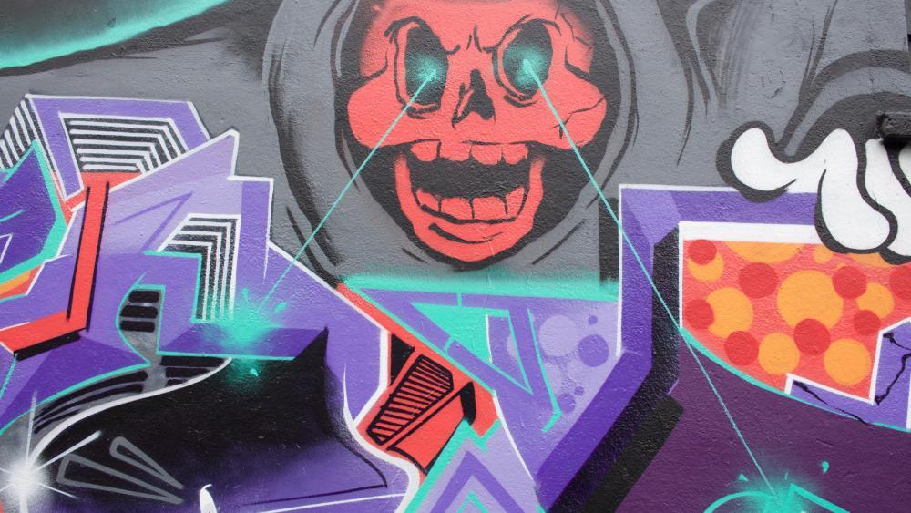 Skull Graffiti wallpaper