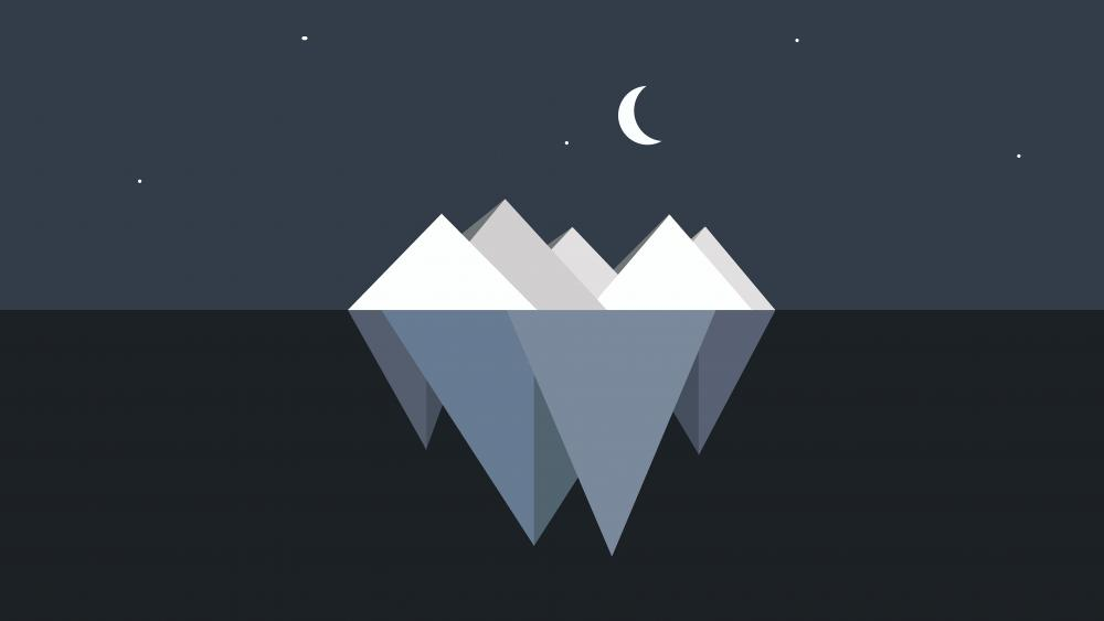 Minimal iceberg wallpaper