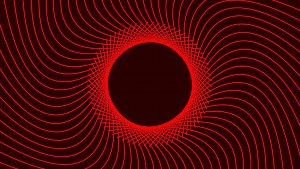 Red spiral wallpaper