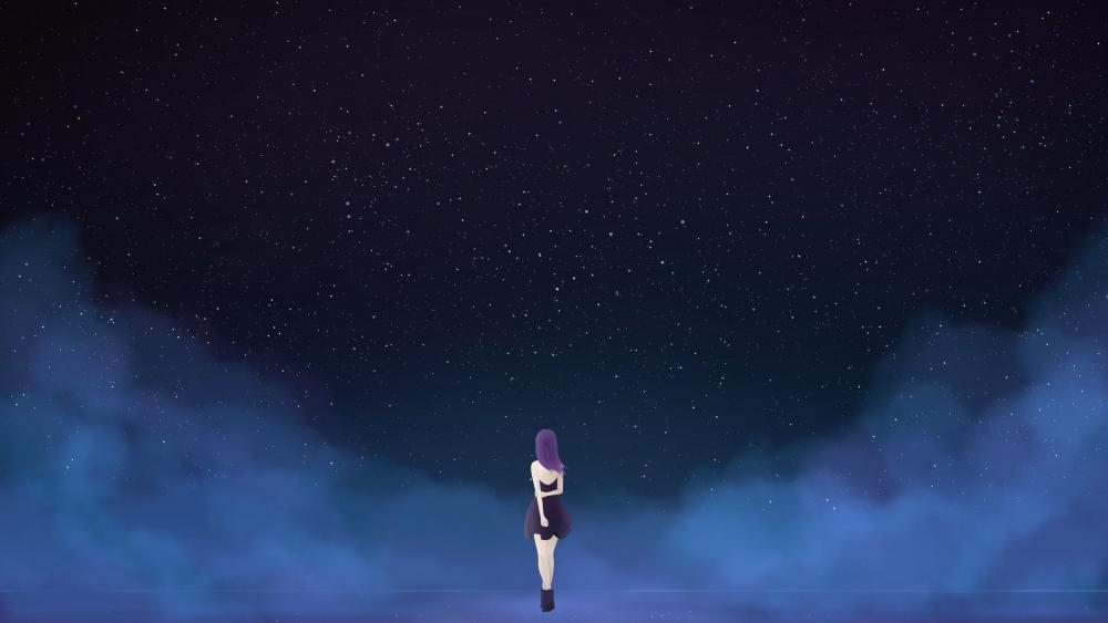 Alone in the dark anime art wallpaper