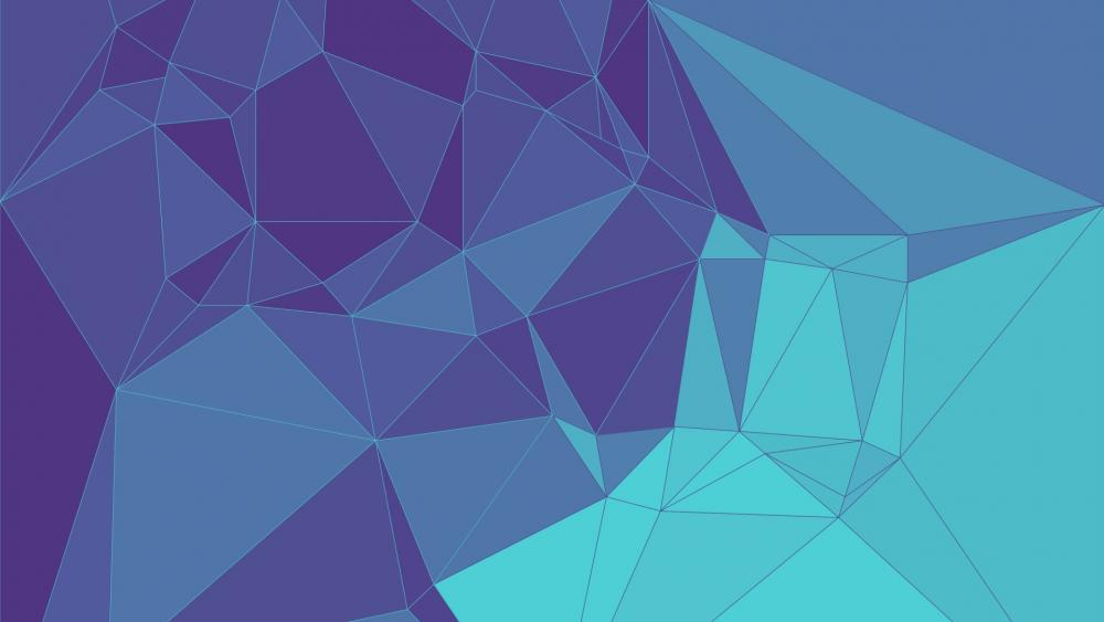 Blue triangles wallpaper