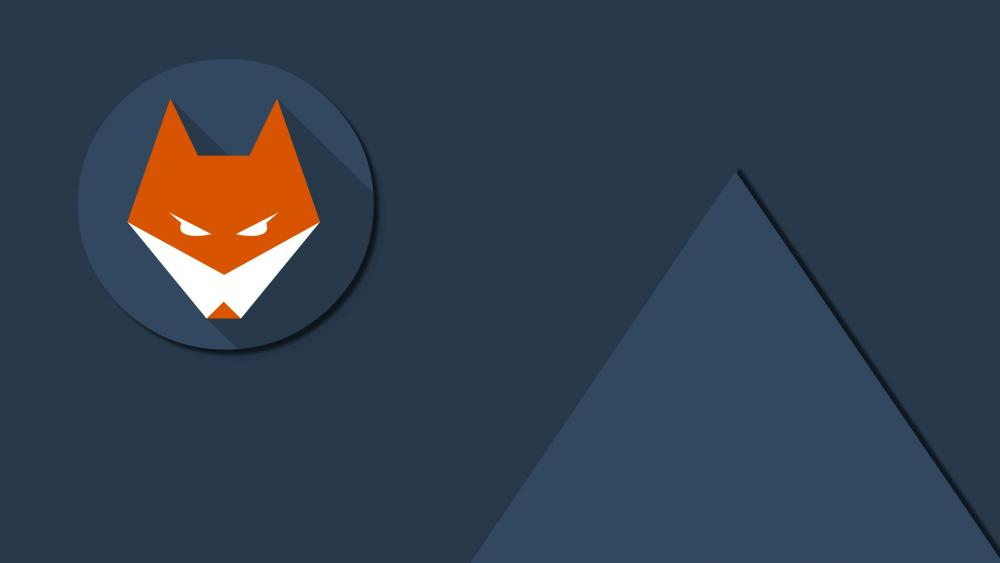 Fox material design wallpaper