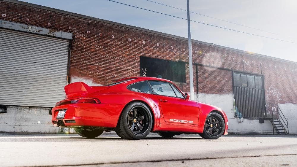 Red Porsche 911 Gunther Werks wallpaper