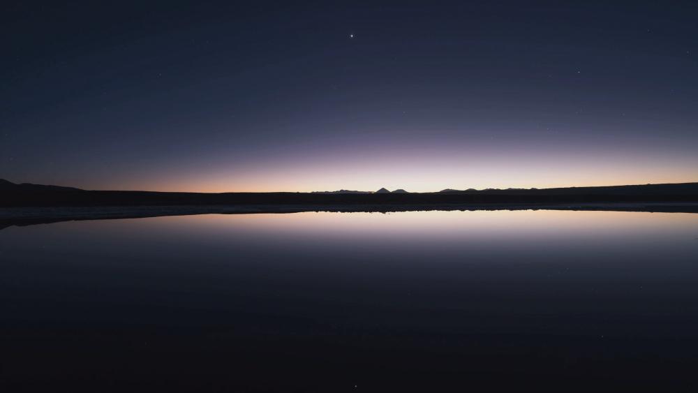 Atacama salt lake at night wallpaper