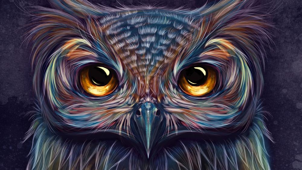 Owl illustration wallpaper