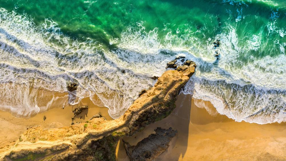 Coastline from above wallpaper