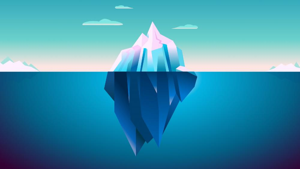 Iceberg minimal art wallpaper