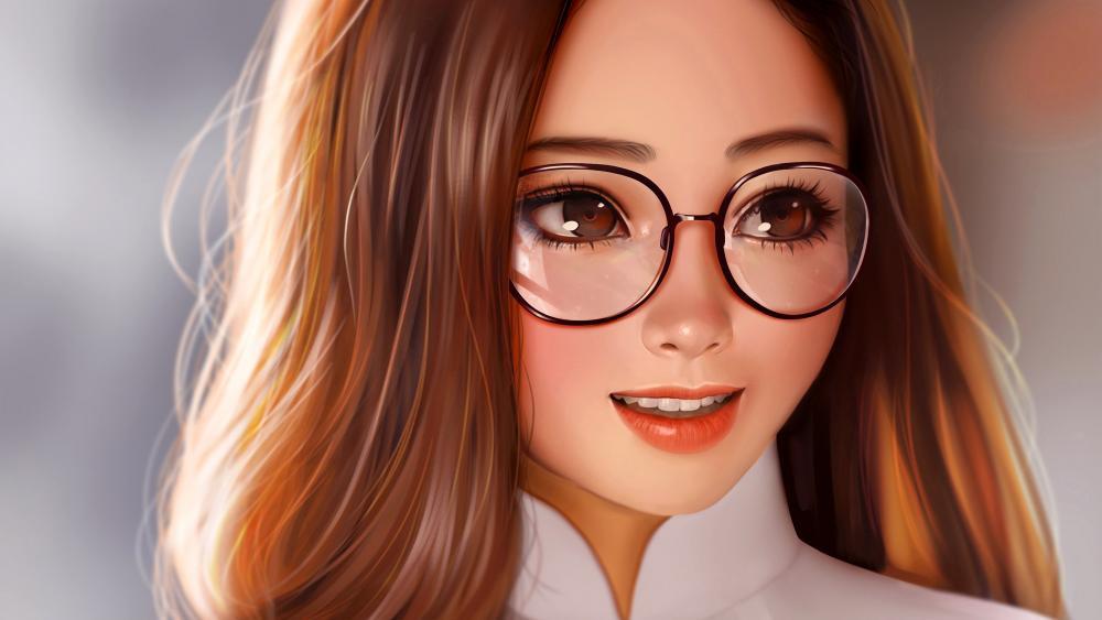 Anime girl digital art wallpaper
