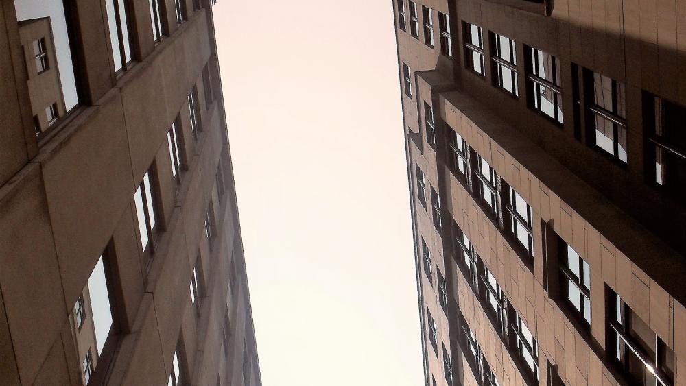Two buildings wallpaper