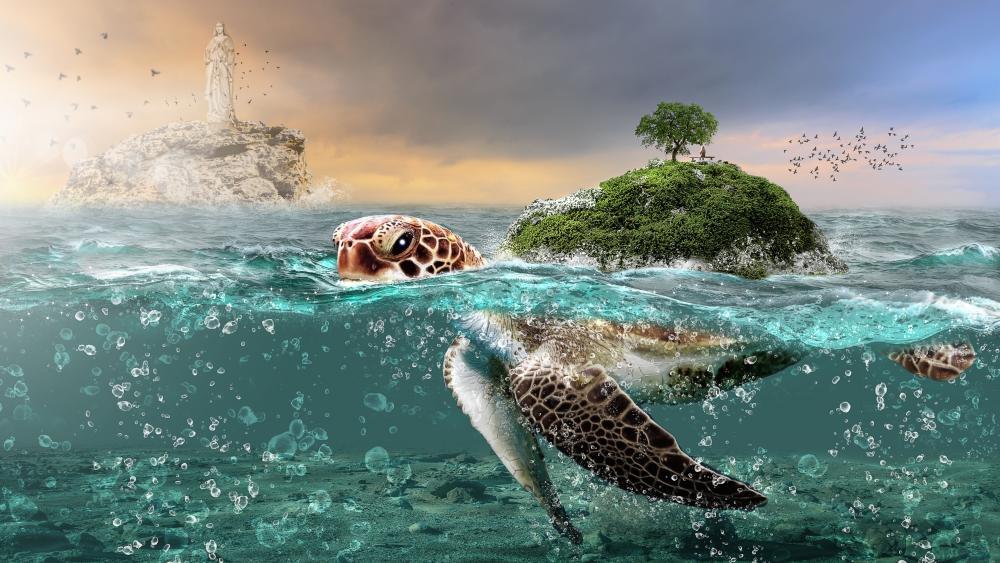 Fantasy turtle wallpaper