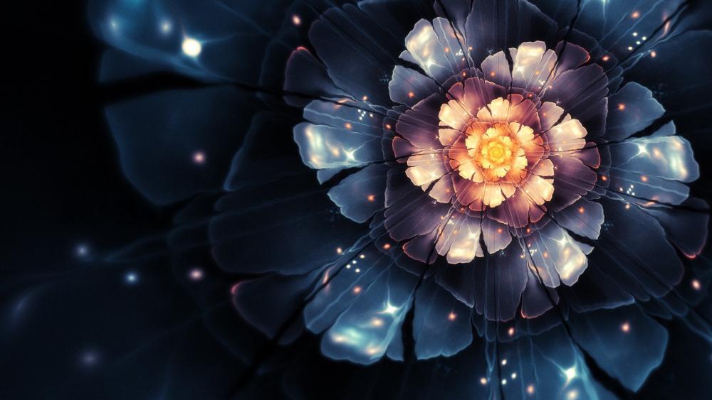 Bright flower wallpaper