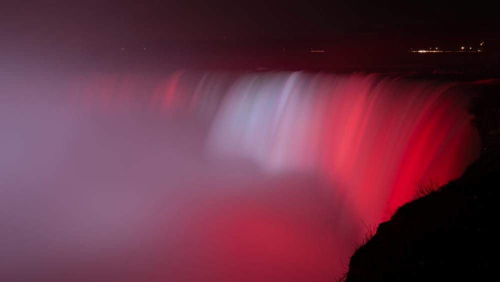 Niagara Falls on Canada Day wallpaper