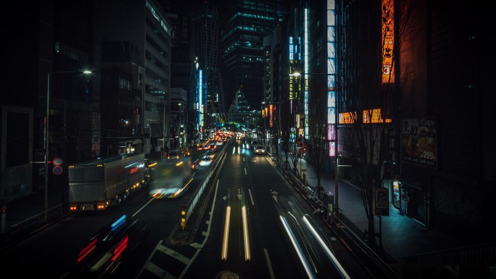 Night city lights wallpaper
