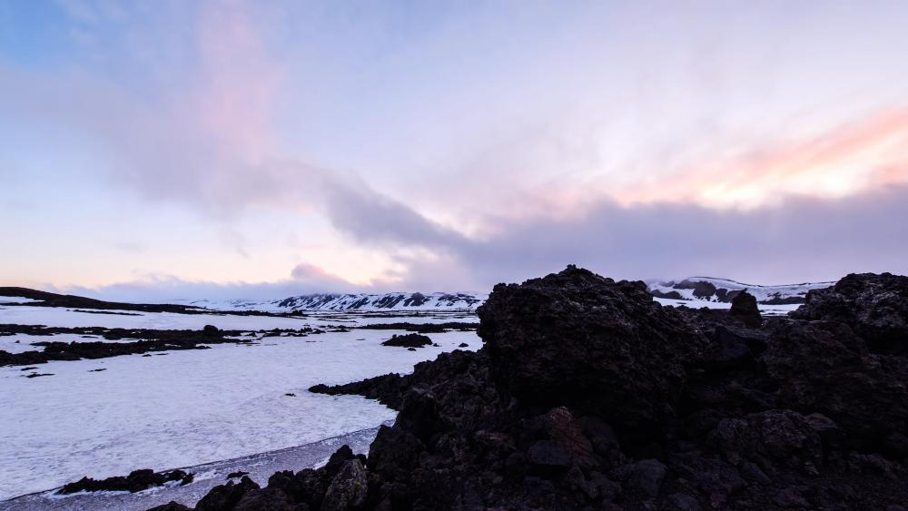 Snowy Iceland wallpaper