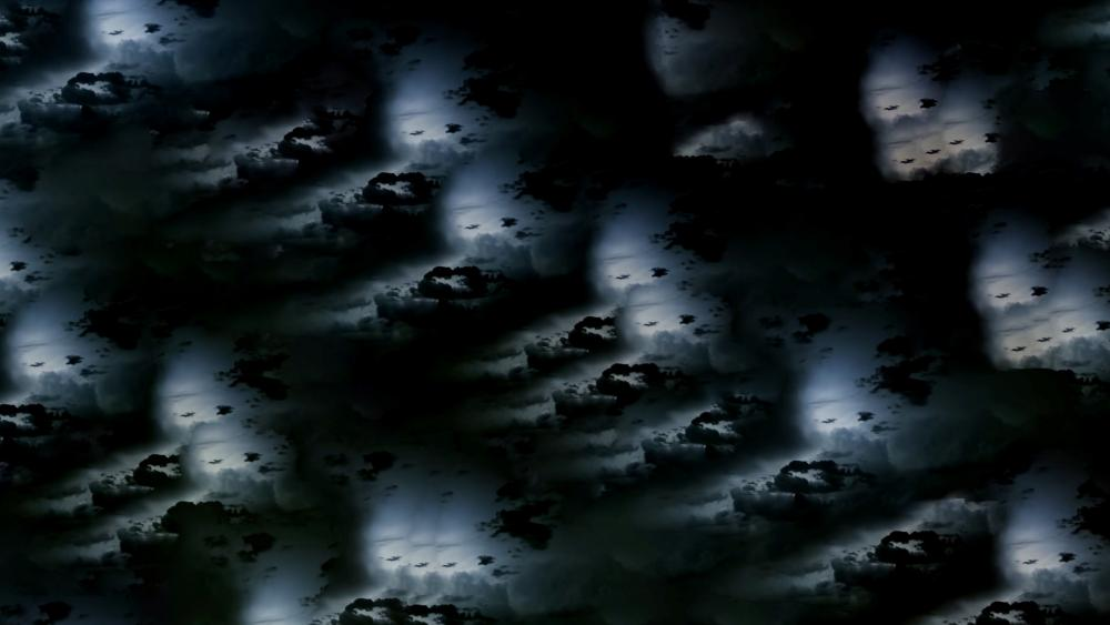 Abstract Cloud repeating pattern wallpaper