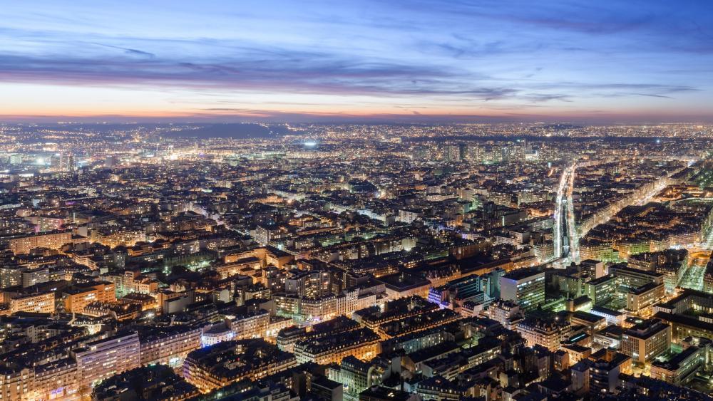 Nighttime in Paris wallpaper