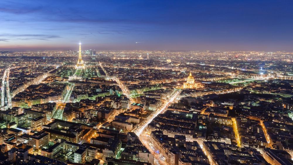 Paris Nighttime Cityscape wallpaper
