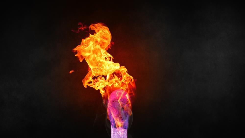Burning match wallpaper