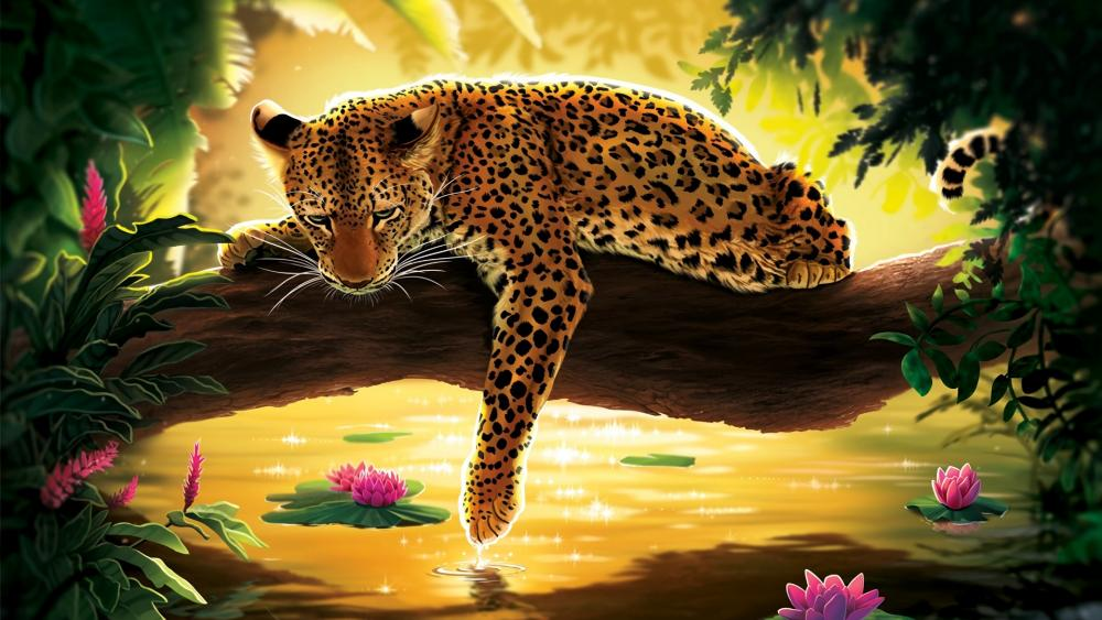 Sad Leopard wallpaper