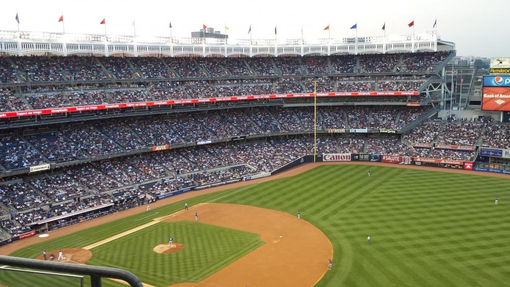 Baseball Game in New York wallpaper
