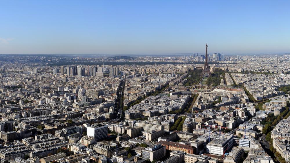 Panoramic Paris wallpaper