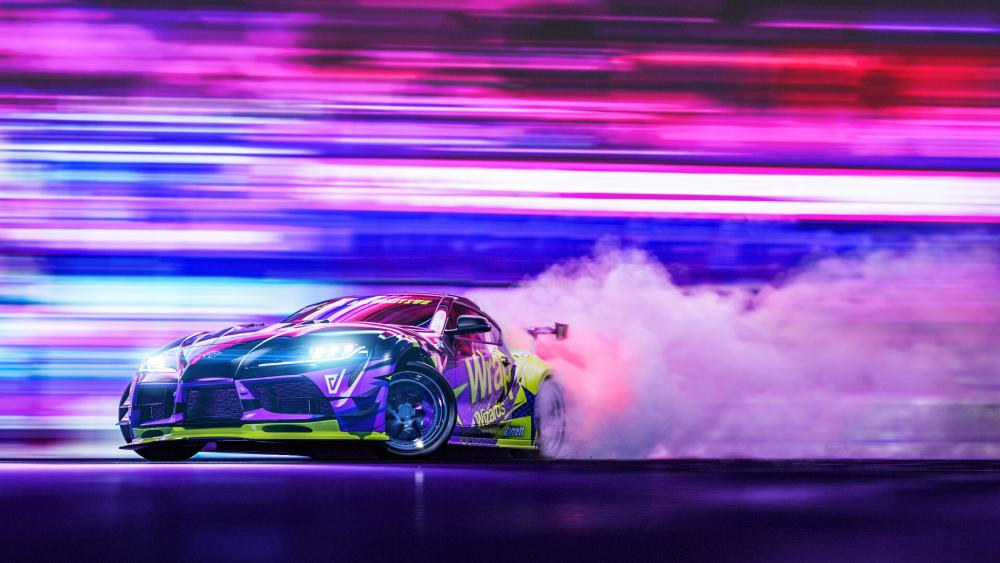 Toyota Supra drifting wallpaper
