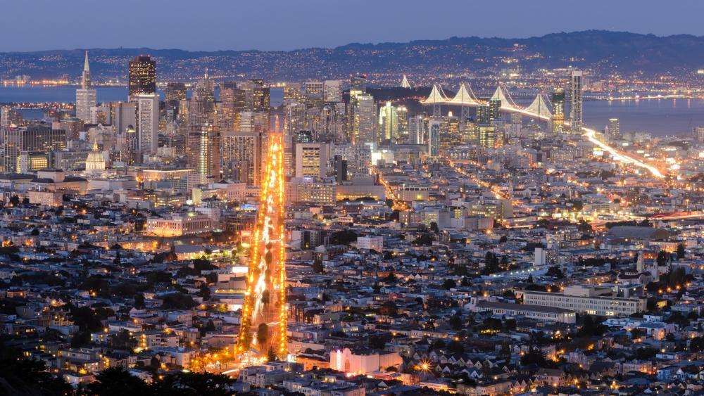 San Francisco from Twin Peaks wallpaper