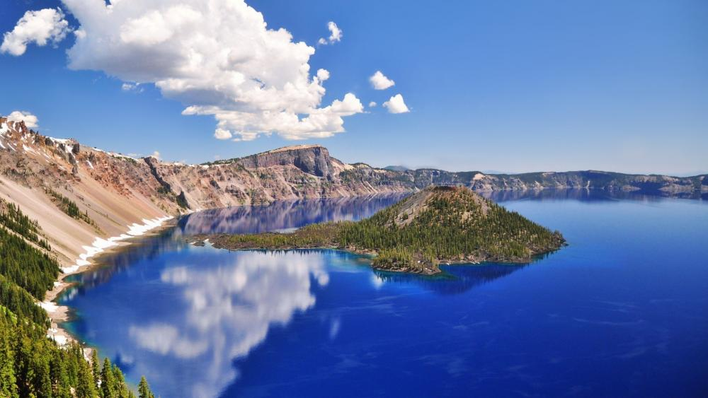 Crater Lake, Wizard Island wallpaper